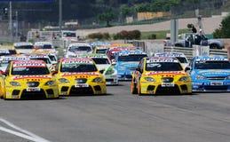 Courses d'automobiles, la FIA WTCC Photographie stock
