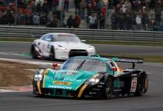 Courses d'automobiles (Maserati MC12, FIA GT) Photo libre de droits