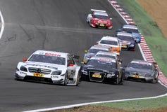 Courses d'automobiles (Paul DI RESTA, DTMrace) Images libres de droits