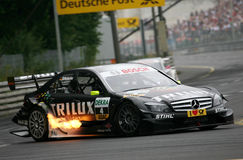 Courses d'automobiles (Ralf Schumacher, DTMrace) Photos stock