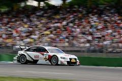 Courses d'automobiles (Tom KRISTENSEN, DTMrace, Audi A4 DTM 09) Image libre de droits