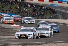 Courses d'automobiles (Tom KRISTENSEN, DTMrace, Audi A4 DTM 09) Photo stock