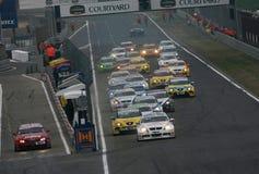 Courses d'automobiles, WTCC, BMW 320si (Andy PRIAULX) Image libre de droits
