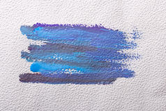 Courses de brosse colorées par bleu Photo libre de droits