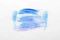 Courses de brosse colorées par bleu Image libre de droits