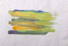 Courses de brosse colorées par jaune Photographie stock