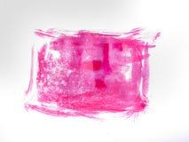 Courses de brosse colorées par rose Photos libres de droits