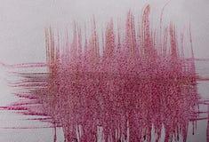 Courses de brosse colorées par rose Photo libre de droits