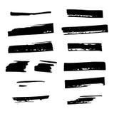 Courses de brosse d'aspiration de main Ensemble de cadres noirs d?coratifs illustration libre de droits