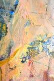 Courses de brosse de peinture à l'huile et texture de toile Photos libres de droits