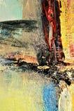 Courses de peinture dans des tonalités colorées, fond Photographie stock