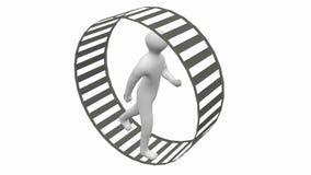 Courses de personne dans une roue Image libre de droits