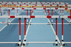 Courses de tentative de disque d'athlétisme photo stock