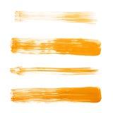Courses droites de brosse de peinture à l'huile Photographie stock libre de droits
