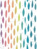 Courses et points ovales peints à la main verticaux multicolores de brosse d'effet d'arc-en-ciel Configuration sans joint de vect illustration libre de droits