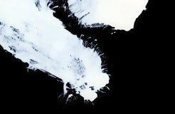 Courses expressives blanches de brosse pour les milieux créatifs, innovateurs, intéressants dans le style de zen Images stock