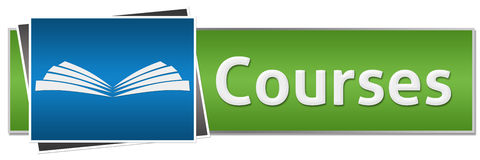 Courses Green Blue Button Style Royalty Free Stock Photography