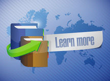 Courses message world map illustration Royalty Free Stock Photo