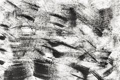 Courses noires du pinceau, éclaboussure des courses de peinture d'isolement Image stock