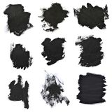 Courses noires réglées de brosse sur le livre blanc Images libres de droits