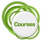 Courses Random Green Rings Stock Photo