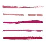 Courses rouges de peinture Images stock