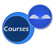 Courses Two Blue Circles Stock Photos
