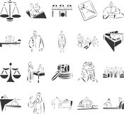Court. 20 themed EPS images related to court. The number of vector nodes is absolute minimum. The images are very easy to use and edit and are extremely smooth royalty free illustration