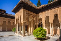 Court of Alhambra Palace Royalty Free Stock Photography