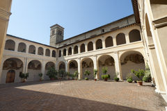Court of ancient palace in Bevagna Royalty Free Stock Images