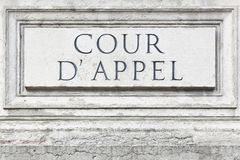 Court of appeal in France Royalty Free Stock Images