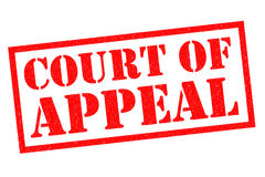 COURT OF APPEAL. Red Rubber Stamp over a white background Stock Image