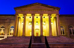 The Court of Appeals at night in Washington, DC. Stock Images