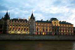 Court of Cassation on banks of Seine Royalty Free Stock Photos