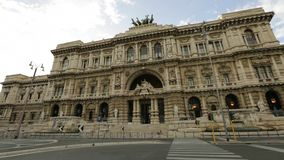 Court of Cassation. Justice palace of Supreme Court of Cassation, Corte Suprema di Casazione. Is highest court of appeal of Italy in Rome. Between Umberto I stock video footage