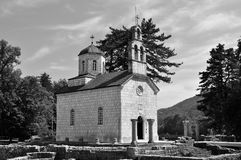 Court Church in black and white - Cetinje - Montenegro stock photos