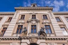 Court in Cieszyn. Facade of th district court building in Cieszyn town, Poland, close to the Czech Republic border stock photo
