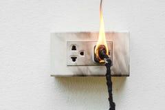 Court-circuit de l'électricité images stock
