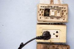 Court-circuit de l'électricité image libre de droits