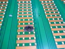 Court-circuit de l'électronique de pièces photo stock