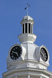 Court Clock 4. Clock on the Rutherford County court building in Murfreesboro Royalty Free Stock Photo