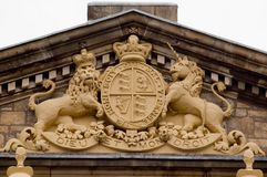 Court Coat of Arms. The Coat of Arms on the Surpreme Court building in Adelaide, South Australia royalty free stock image