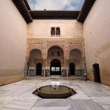 Court of the Council Chamber. Patio del Mexuar (Court of the Council Chamber) in La Alhambra, Granada, Spain royalty free stock images