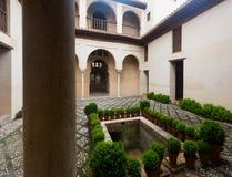 Court of Dar al-Horra Palac.  Granada. GRANADA, SPAIN - MAY 13, 2016: Court of Dar al-Horra Palac.  Granada Stock Photography