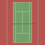 Court de tennis illustration stock