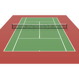 Court de tennis illustration stock