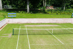 Court de tennis Photo stock
