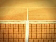 Court de tennis avec la ligne et le filet (122) Image libre de droits