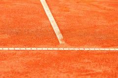 Court de tennis d'argile image stock