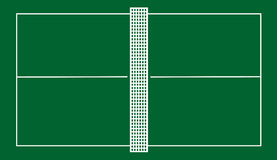 Court de tennis de Tableau Photos stock